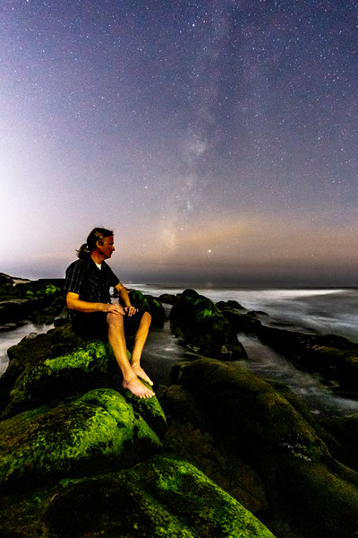 Milky Way Self-Portrait At Windansea Beach. 1/4