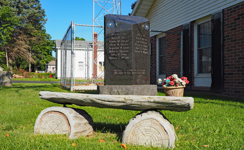 Memorial outside the Jefferson Township Hall