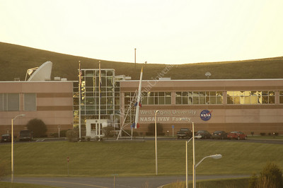 23956 Evening night shot of NASA building