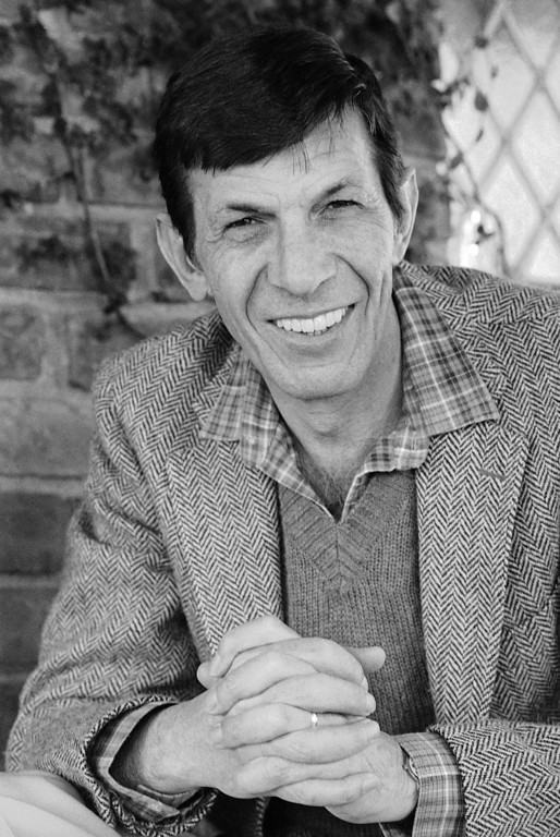 . Leonard Nimoy minus his famous pointed ears of Mr. Spock days takes time out in Hollywood after returning from abroad, Jan. 28, 1982. (AP Photo/Red McLendon)