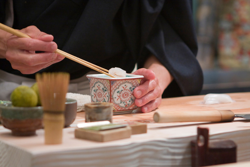 Course #10: Sushi Sushi #6: Shira Ebi (White Shrimp)  The box contains cut up pieces of amaebi.
