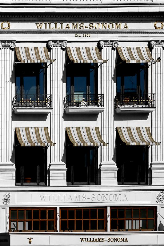 Williams-Sonoma building on Union Square, San Francsico, CA.