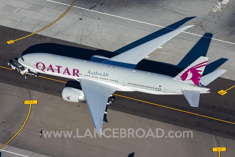 Qatar 777-200LR - A7-BBB - LAX