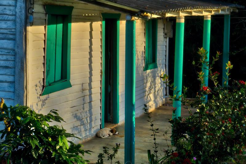 Vinales front porch sunset