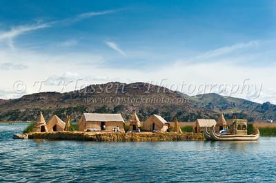 Uros Reed Island,Titicaca Lake