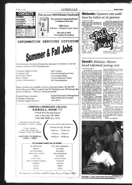 Summer Trojan, Vol. 152, No. 2, May 26, 2004