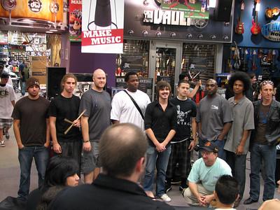 2006.11.08 Wed - Garet Powell wins Guitar Center Drum off district final