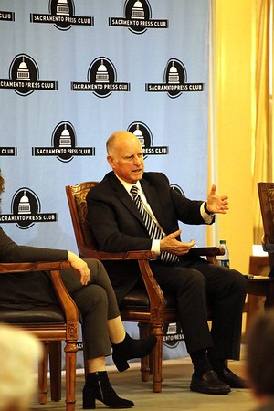Sacramento Press Club Luncheon with Governor Jerry Brown 12 18 18