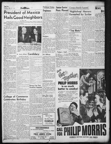 Daily Trojan, Vol. 38, No. 132, May 12, 1947