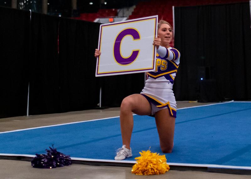 Broughton cheerleading Pre-States. November 16, 2019. D4S_1747