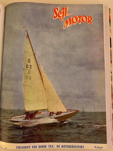 Knarr-forside på Sejl og Motor 1958