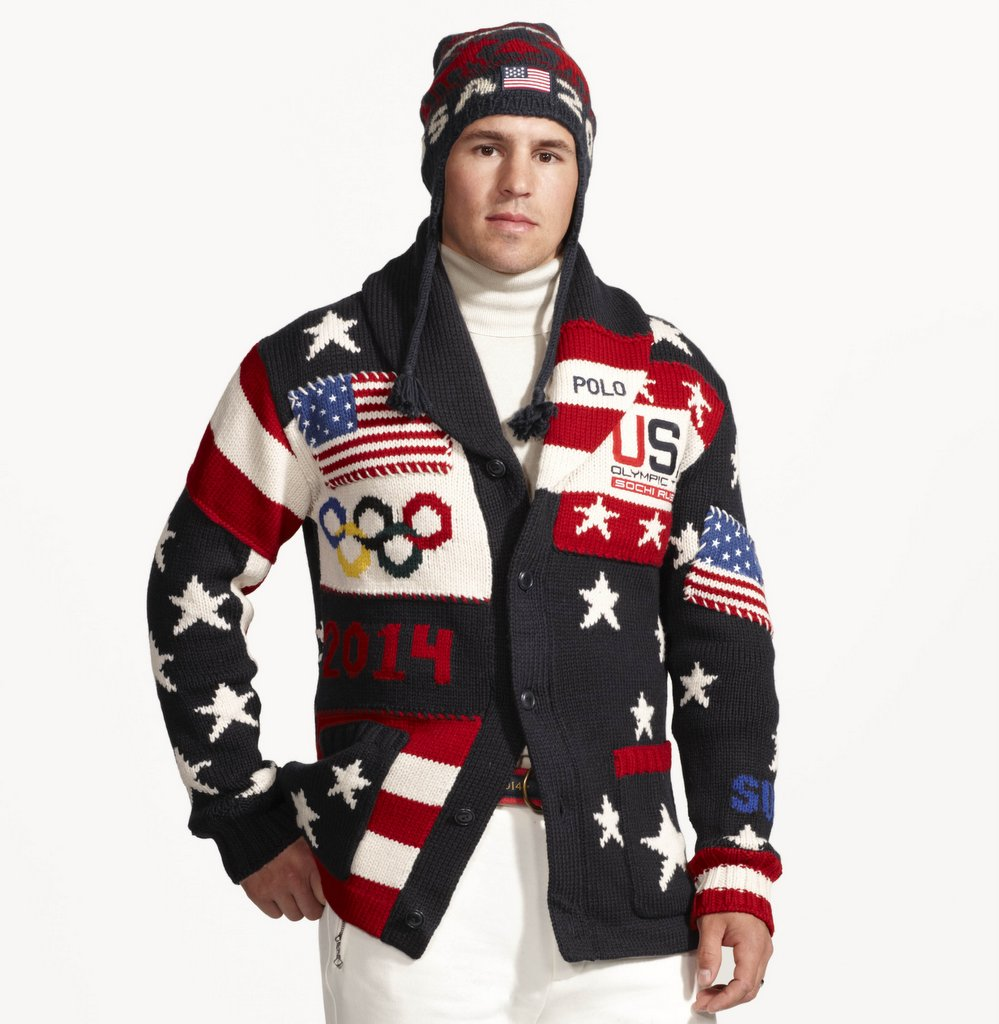 ". <p>2. U.S. OLYMPIC UNIFORMS <p>Bill Cosby wouldn�t be caught dead wearing that sweater, but Zach Parise has no choice. (unranked) <p><b><a href=\'http://www.twincities.com/sports/ci_24977390/zach-parise-fashion-model-wild-star-shows-off\' target=""_blank\""> HUH?</a></b> <p>    (AP Photo/Ralph Lauren)"