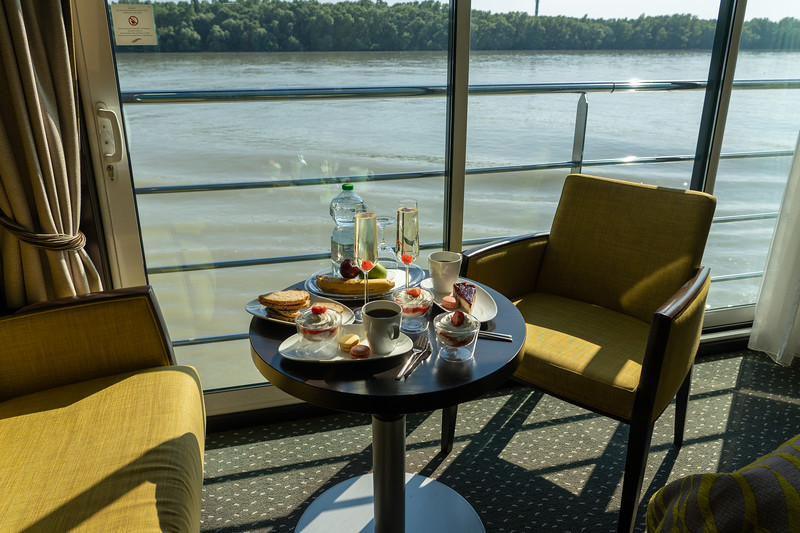 Afternoon tea aboard the Avalon Impression