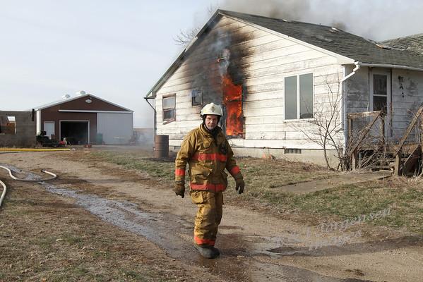Jorgensen Farm Home Burning - Nov 2012