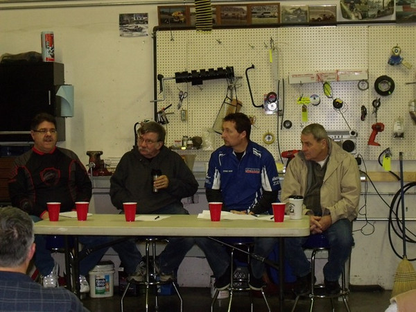 The  panel from left to right: Tim Bernard, John Cole, Ron Wehr & Norm Kouba