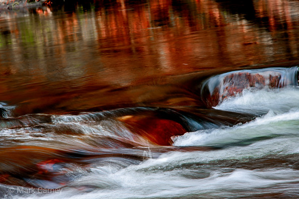 flowing streams and little water falls