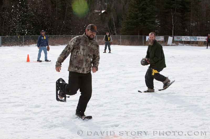 Hard not to smile at Cooper Landing's Snowshoe Softball game. Check out more from the game by clicking here: http://galleries.davidstoryphoto.com/Alaska/2013-Snowshoe-Softball/n-9zLVt