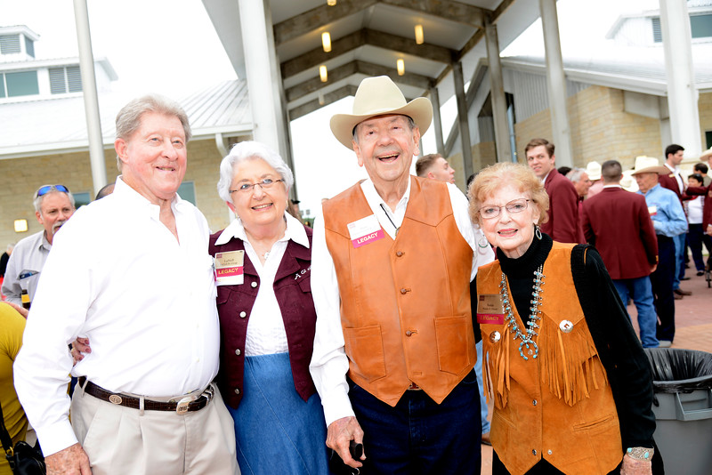 Gordon Greggs '61, La Nell Greggs, Harvey Green Jr. '52, Nelda Green