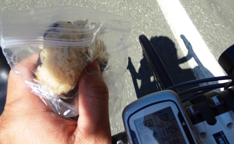 Mile 86: Excellent nutrition, excellent camera work, excellent bike handling skills! (courtesy Aki Yamakawa)