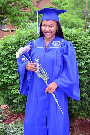 Brayuna in her Cap & Gown