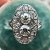 1.75ctw Edwardian Toi et Moi Old European Cut Diamond Ring  18