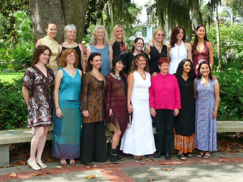 kali stinson, 4th from left first row, graduation, academy for five element medicine