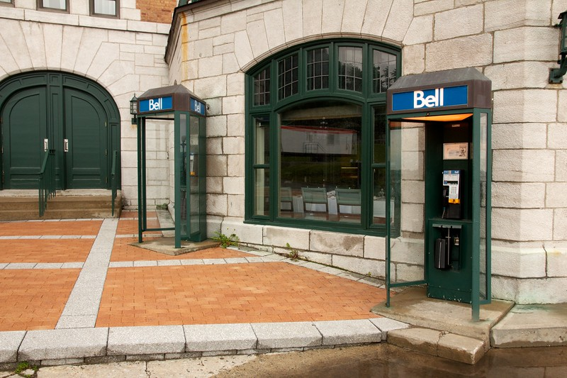 Telephone booths. Quebec City, Canada