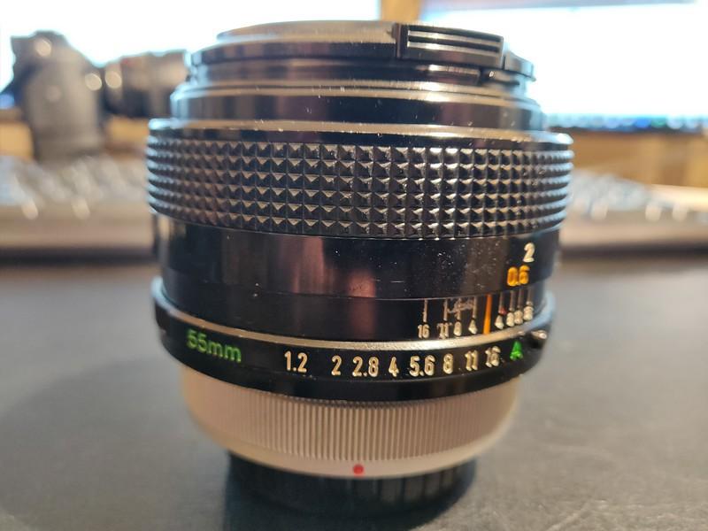 Canon FD 55 1.2 S.S.C. - Serial R408 & 100406 001.jpg