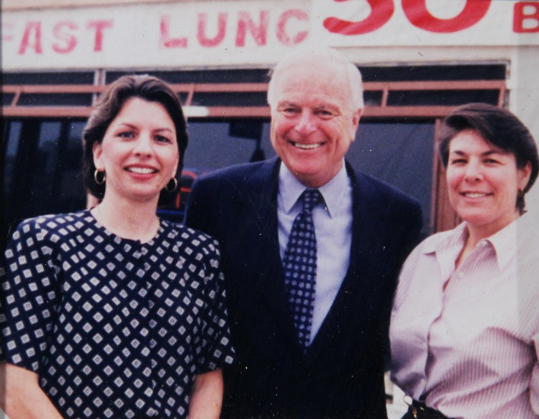 1998, Nancy, Mayor Riordan, and Pepper