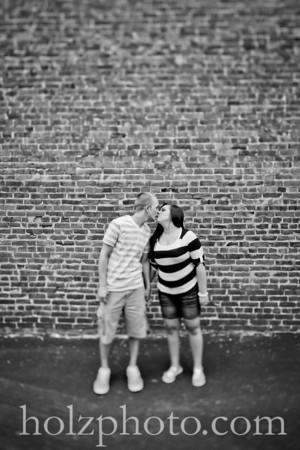 Morgan and David B/W Engagement Photos