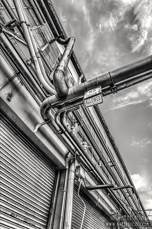 Pipes. Black & White Photography by Wayne Heim
