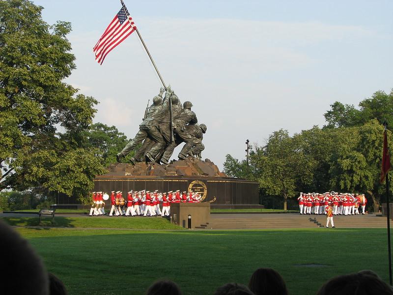 Marine Parade at Iwo Jima statue