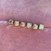 .78-.82ctw Asscher Stud Earrings, in Yellow Gold 1