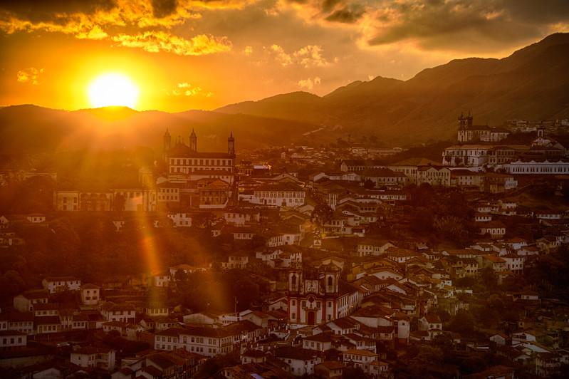 Crazy sunset over Ouro Preto.