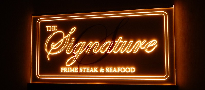 The Signature Prime Steak & Seafood Restaurant was the place we chose to celebrate our special dinner