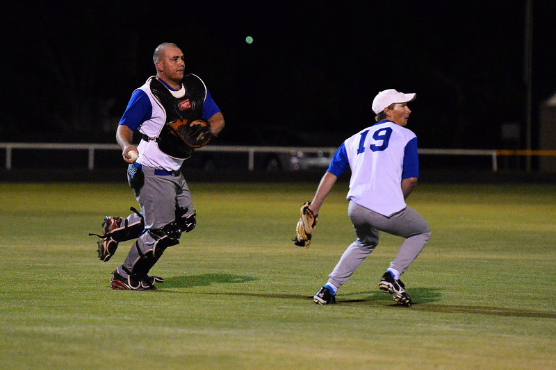 Dave Grenfell (Renmark) to throw to 1st