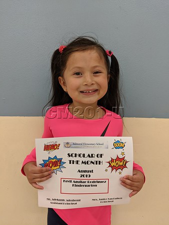 Scholar of the Month- August