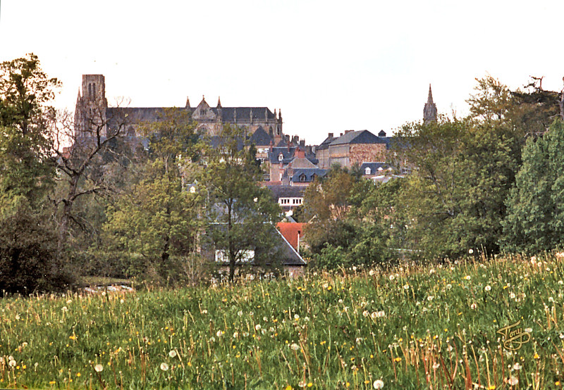 Avranches - 2002 - Skyline Viewed from les Mares