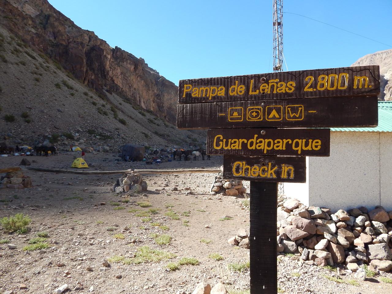 Day 1 first camp site, Pampa de Lenas