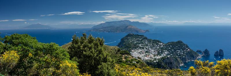 Capri and Vesuvius