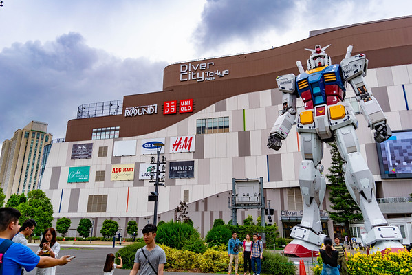 Gundam Statue in Odaiba. Editorial credit: freehunter45 / Shutterstock.com
