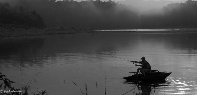 Fishing on Lake Zwerner