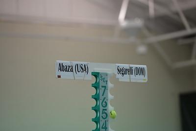 Francesca SEGARELLI (DOM) vs Jan ABAZA (USA) [5] (Sunday)