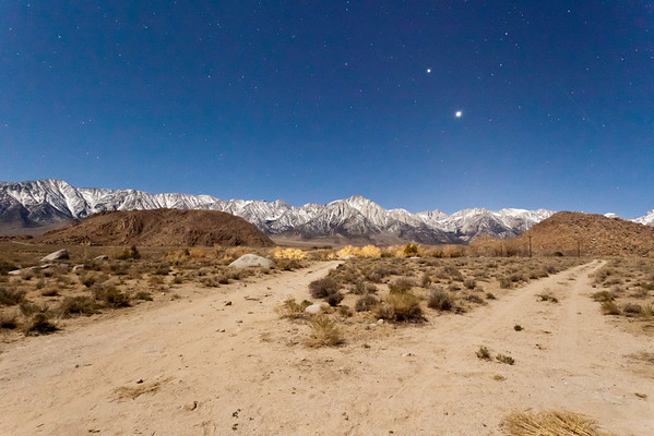 Owens Valley at night March 2011