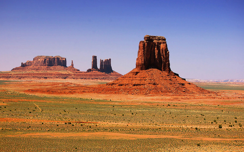 "The ""North Window"" at Monument Valley, Utah, USA."