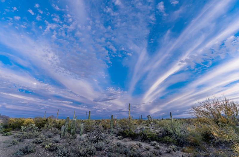 Desert S of Sinagua Rd w Purpish Clouds