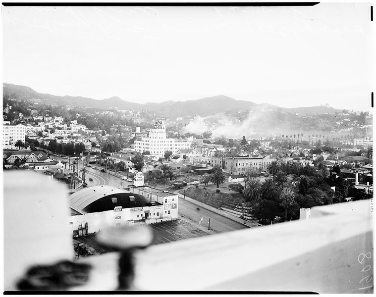 Smog Series Looking East from Hollywood and Vine