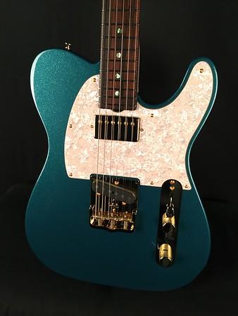 NOS Vintage T #3949, Mermaid Blue Sparkle, Grosh T/H Pickupsd