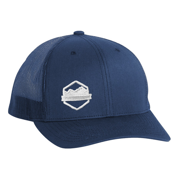 Organ Mountain Outfitters - Outdoor Apparel - Hat - Logo Retro Trucker Cap - Navy.jpg