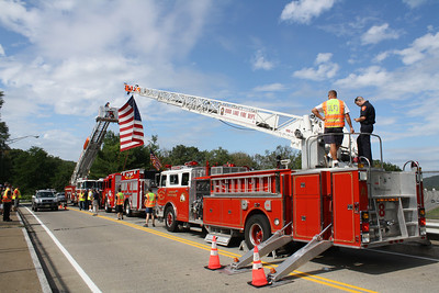Area Fire Departments Honor Ground Zero-Bound Cyclists